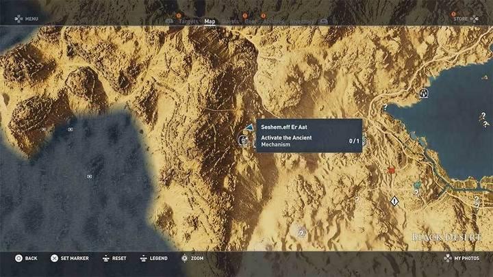 Tumba de Sheshem.eff Er Aat en desierto Negro de Assassin's Creed Origins