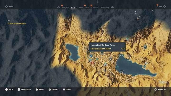 Montaña de los Muertos Tumba de Assassin's Creed Origins