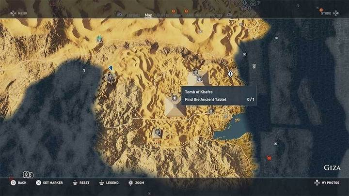 Tumba de Khafre en Guiza de Assassin's Creed Origins