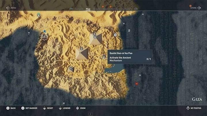 Tumba de Eesfet Oon-m'Aa Poo en Guiza de Assassin's Creed Origins