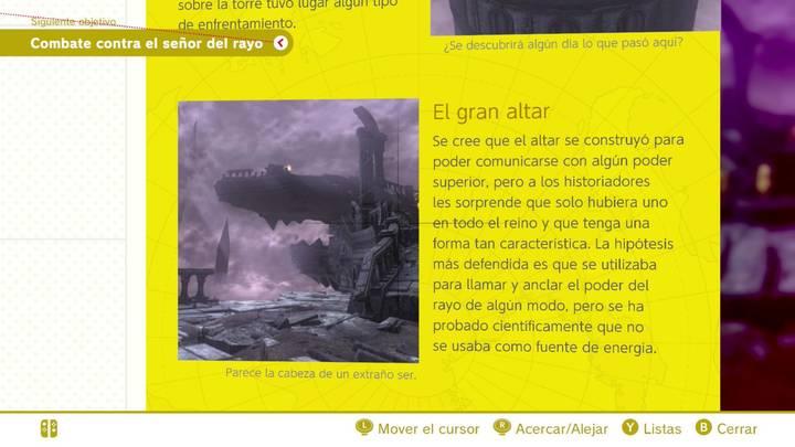 El gran altar Reino de las ruinas Super Mario Odyssey