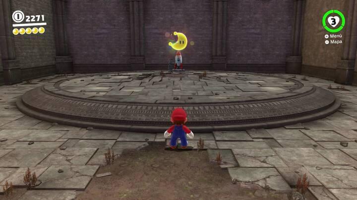 Energiluna 3 del Reino de las Ruinas Super Mario Odyssey