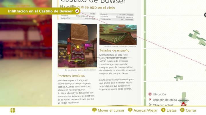 Tejados de ensueño Reino de Bowser Super Mario Odyssey