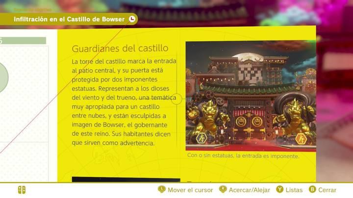 Guardianes del castillo Reino de Bowser Super Mario Odyssey