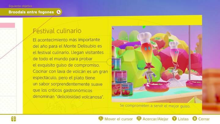 Festival culinario Reino de los Fogones Super Mario Odyssey