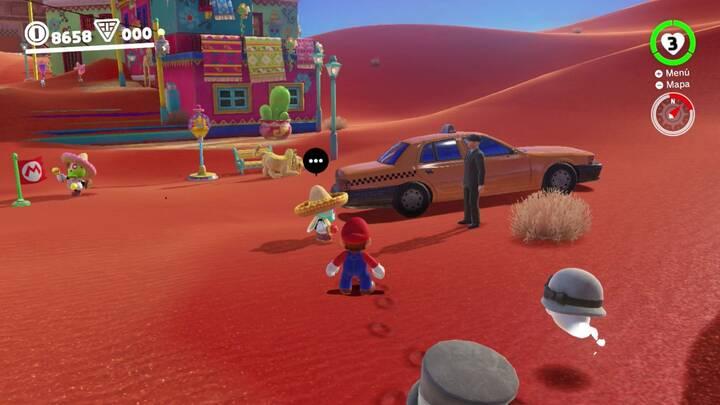 Ruta del taxi Reino de las Arenas - Super Mario Odyssey