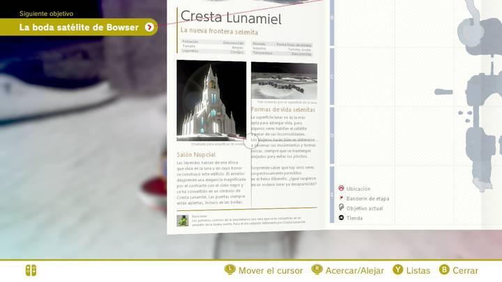 Cresta Lunamiel Reino Luna Super Mario Odyssey