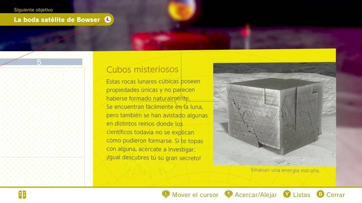 Cubos misteriosos Reino Luna Super Mario Odyssey