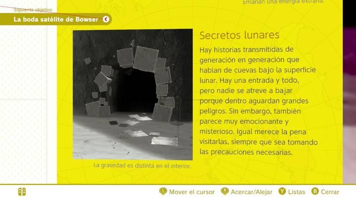 Secretos lunares Reino Luna Super Mario Odyssey