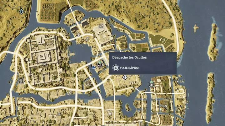 Localización del Despacho de los Ocultos en Menfis