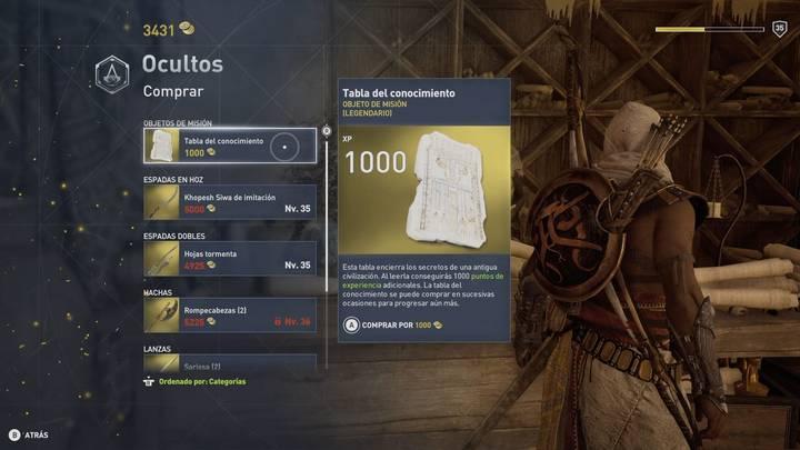 Tienda Despacho de los Ocultos en Assassin's Creed Origins