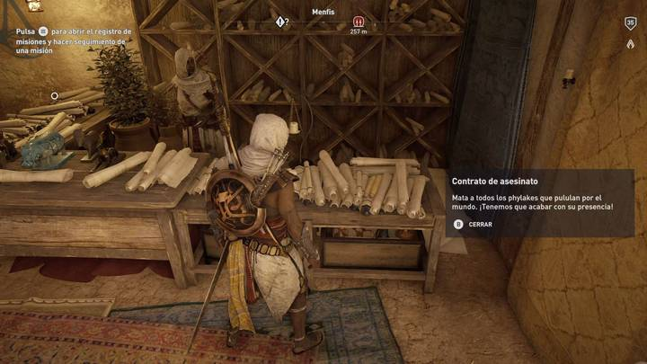 Contratos Despacho de los Ocultos en Assassin's Creed Origins