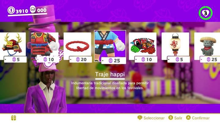 Traje happi Mario Odyssey