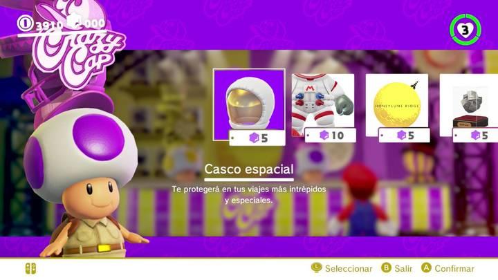 Casco espacial Mario Odyssey
