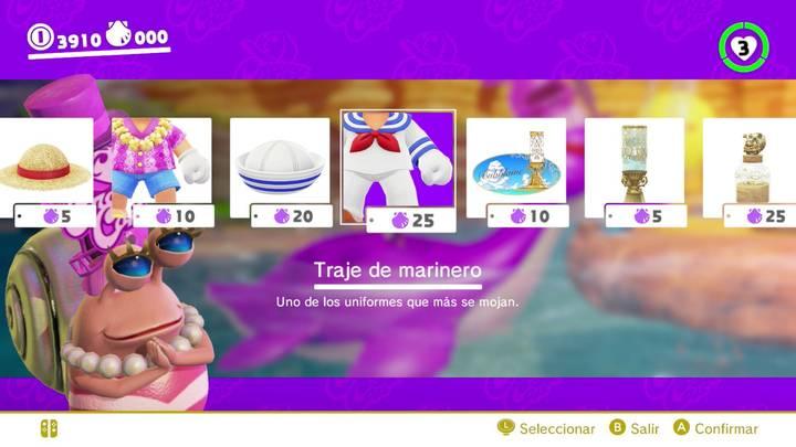 Traje de marinero Mario Odyssey