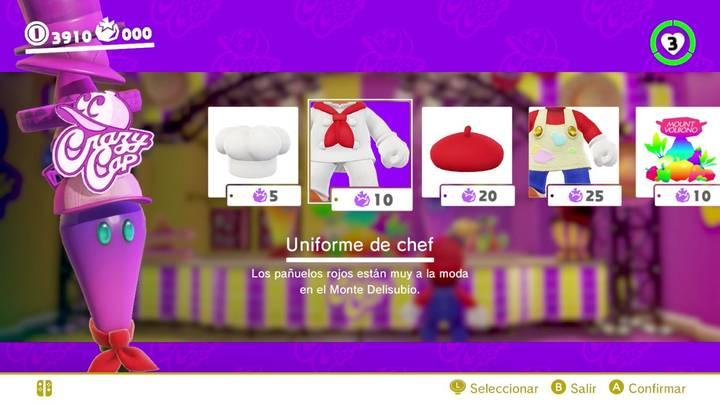Uniforme de chef Mario Odyssey