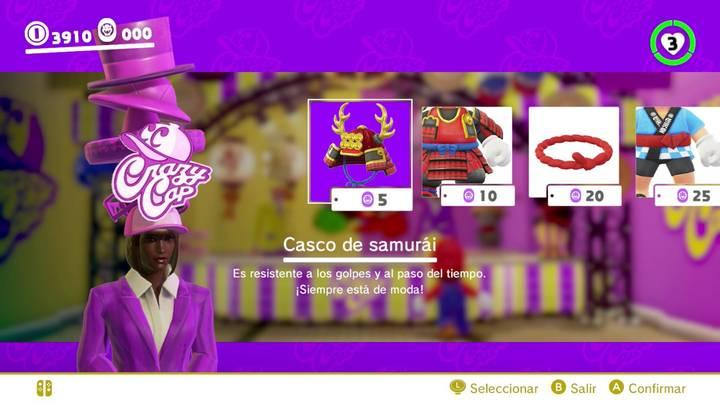 Casco de samurái Mario Odyssey