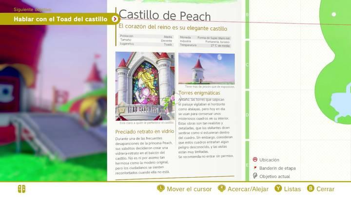 Castillo de Peach Reino Champiñón Super Mario Odyssey