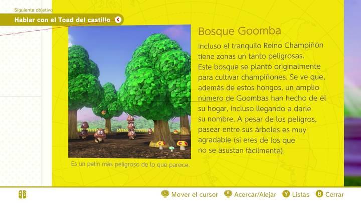 Bosque Goomba Reino Champiñón Super Mario Odyssey