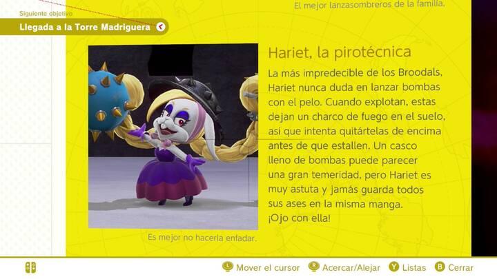 Hariet, la pirotécnica - Cara oculta de la luna Super Mario Odyssey