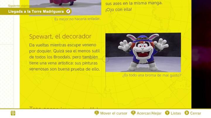Spewart, el decorador - Cara oculta de la luna Super Mario Odyssey