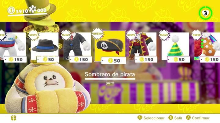 Sombrero de pirata Super Mario Odyssey