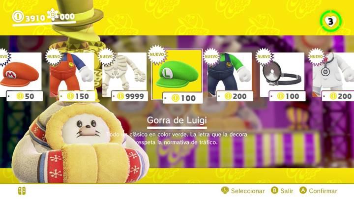 Gorra de Luigi Super Mario Odyssey