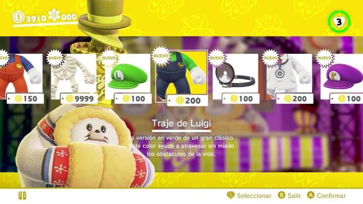 Traje de Luigi Super Mario Odyssey