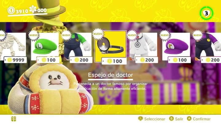 Espejo de doctor Super Mario Odyssey