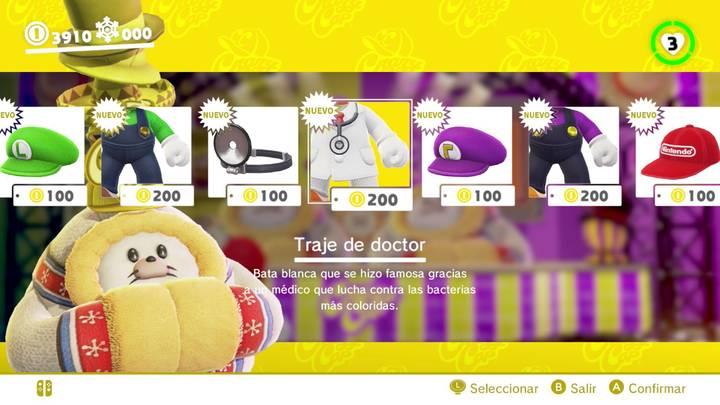 Traje de doctor Super Mario Odyssey