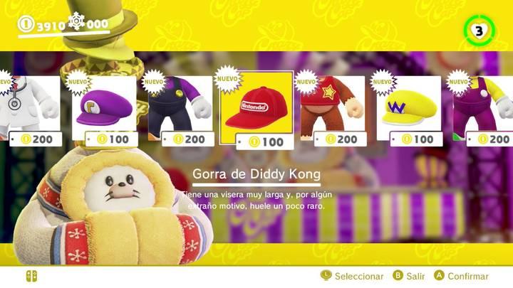 Gorra de Diddy Kong Super Mario Odyssey