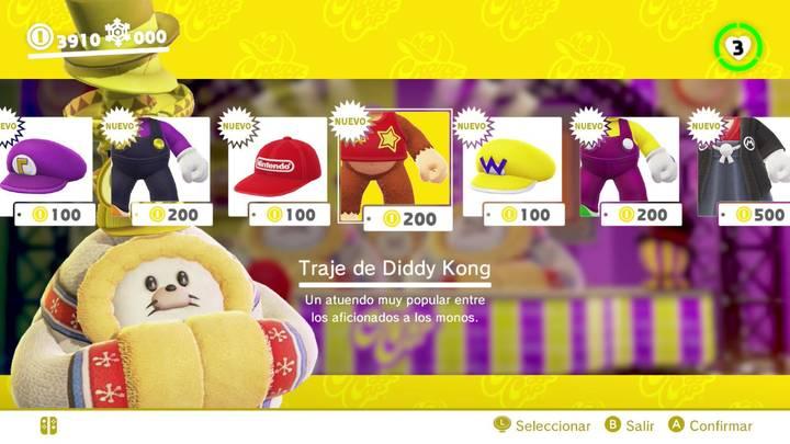Traje de Diddy Kong Super Mario Odyssey
