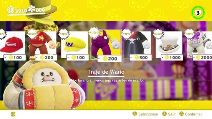 Traje de Wario Super Mario Odyssey