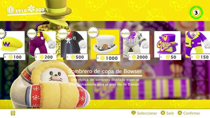 Sombrero de copa de Bowser Super Mario Odyssey