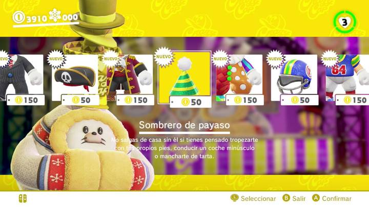 Sombrero de payaso Super Mario Odyssey