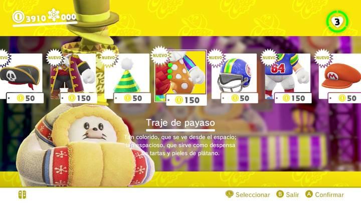 Traje de payaso Super Mario Odyssey