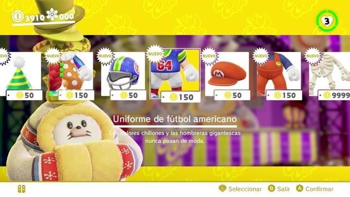 Uniforme de fútbol americano Super Mario Odyssey