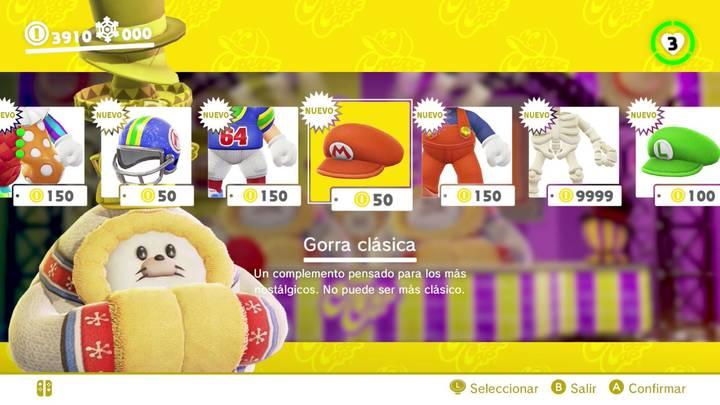 Gorra clásica Super Mario Odyssey