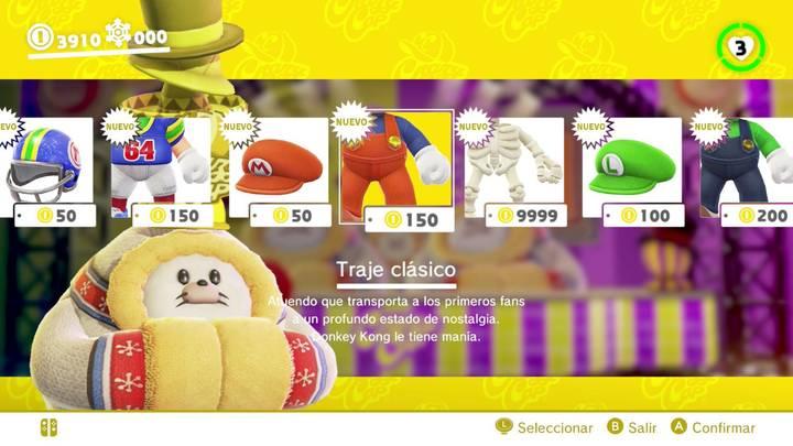Traje clásico Super Mario Odyssey
