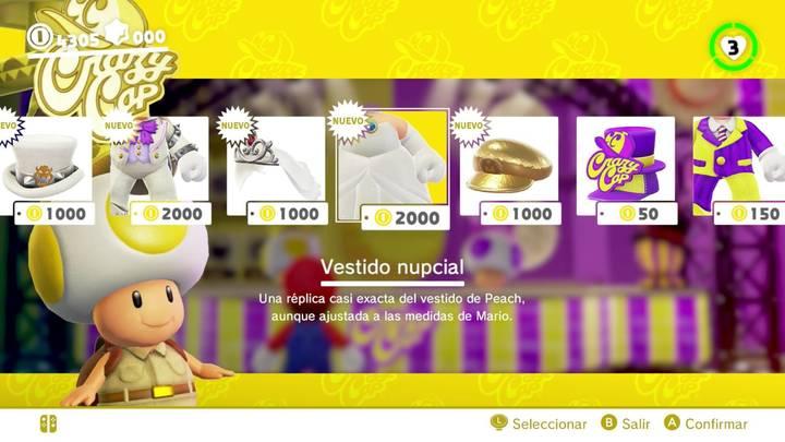 Traje de novia de Peach Super Mario Odyssey