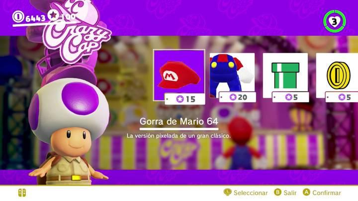 Gorra de Mario 64 Super Mario Odyssey