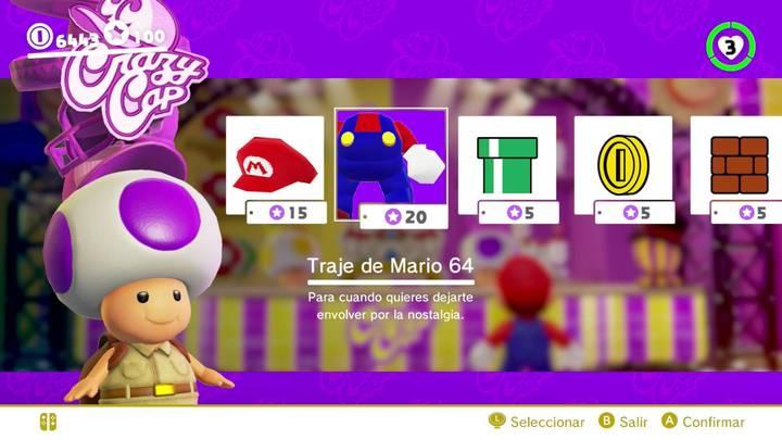 Traje de Mario 64 Super Mario Odyssey