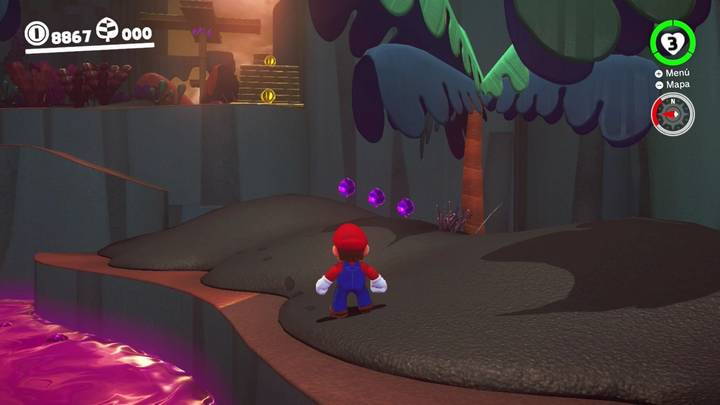Super Mario Odyssey Monedas Moradas Reino Perdido Zona Inferior Derecha
