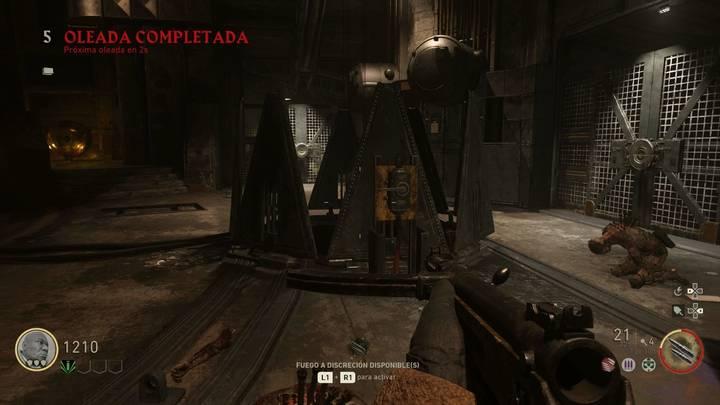 COD WW2 Arma Tesla: Llegar a la sala principal del búnker