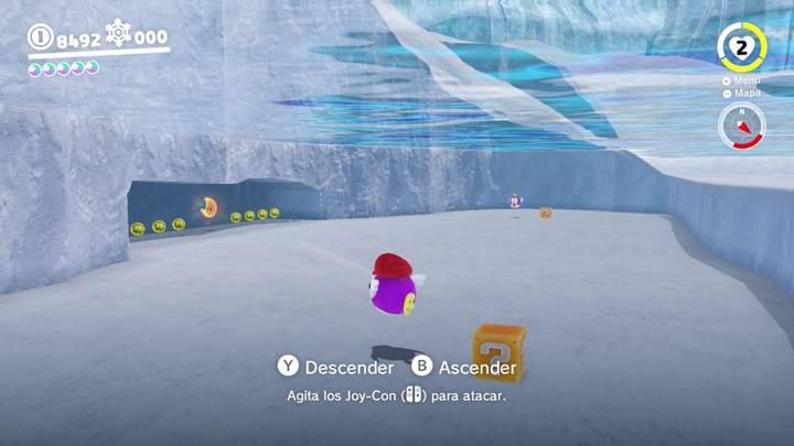 Energiluna 40 Reino del Hielo Super Mario Odyssey