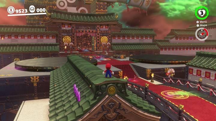 Reino de Bowser Super Mario Odyssey - Monedas moradas 43-45