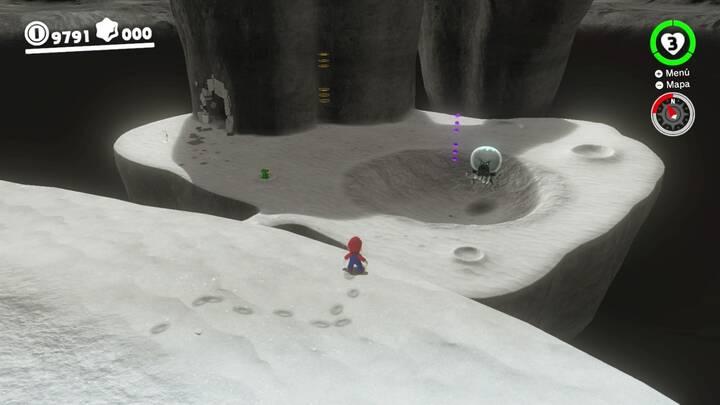 Exterior de la cueva - Reino Luna - Super Mario Odyssey