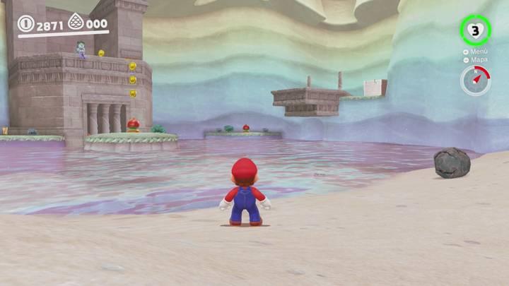Roca Lunar del Reino del Lago - Super Mario Odyssey