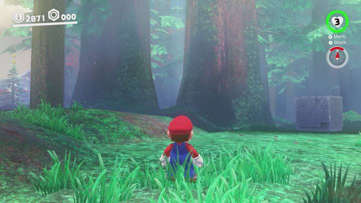 Roca Lunar del Reino Arbolado - Super Mario Odyssey