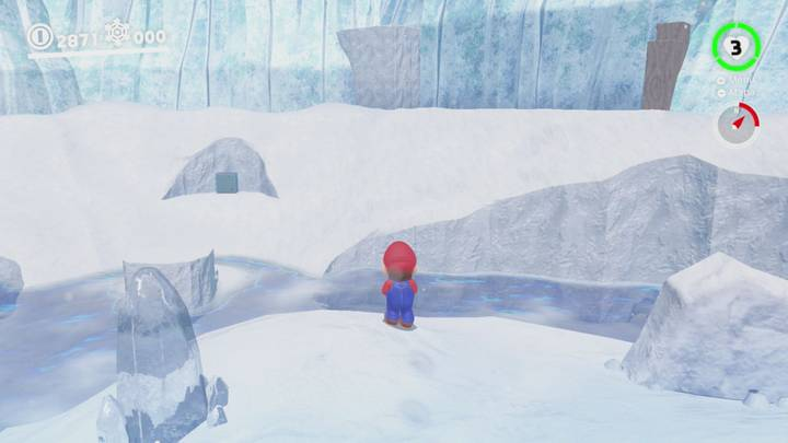 Roca Lunar del Reino del Hielo - Super Mario Odyssey
